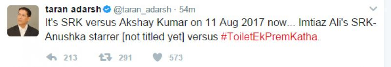 After clash with Hrithik, Shah Rukh's film to now clash with Akshay's