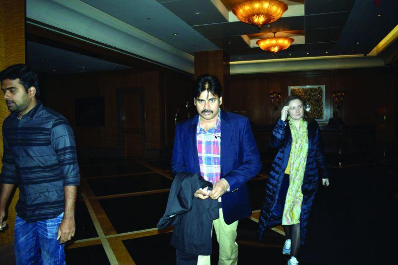 Pawan Kalyan with his wife
