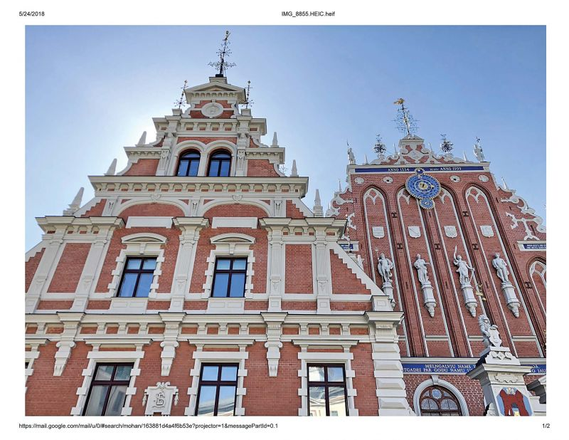 House of Blackheads built is 1334 is a landmark of Riga Old City and the Latvian capital's most magnificent edifice.