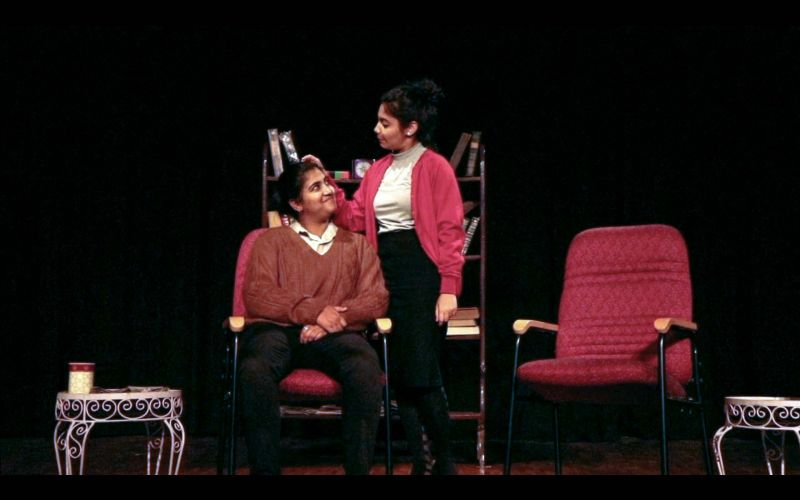 A scene from the performance of 'Old Love' by Mount Carmel students