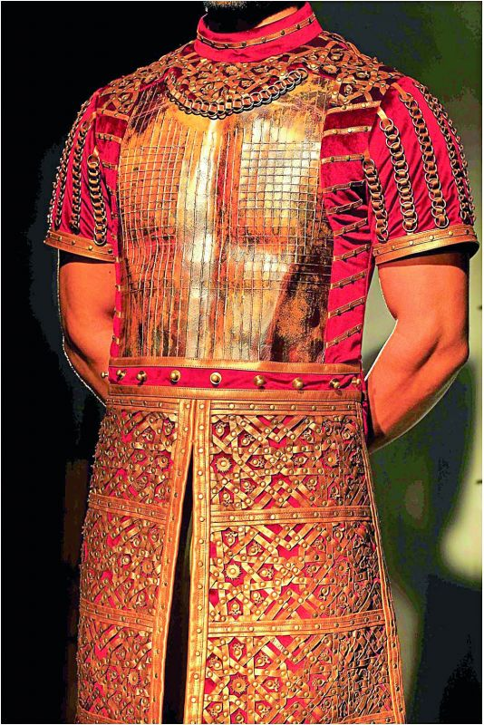 Maharaja Ratan Singh Rawal's armour, left, Alauddin Khilji's armour