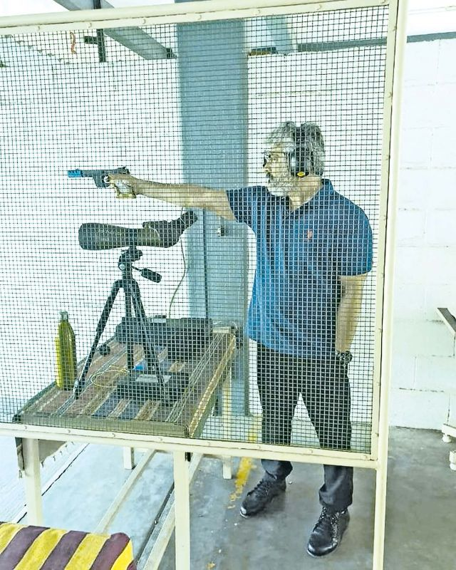 Ajith participates in pistol shooting
