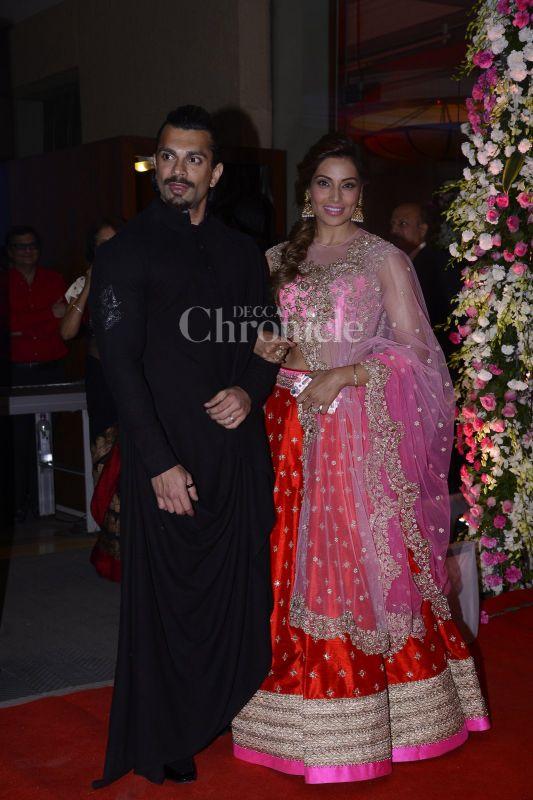 Celebrities attend Neil Nitin Mukesh and Rukmini's wedding reception in Mumbai.