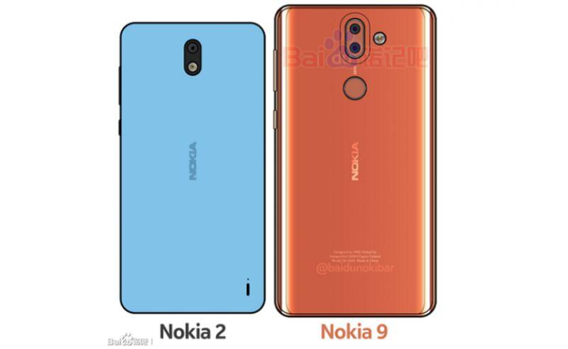 Leaked image of Nokia 2 and Nokia 9 (Photo: Baidu)