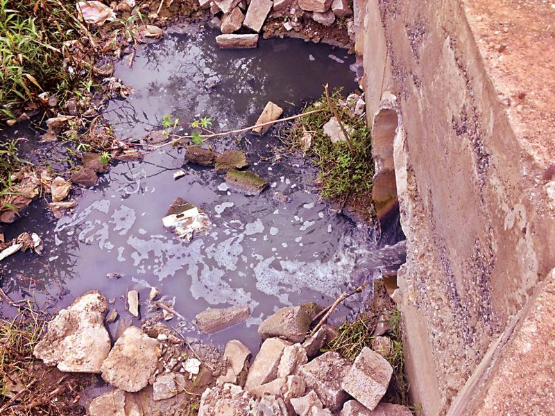 Sewage water flowing into the lake. (Photo: DC)