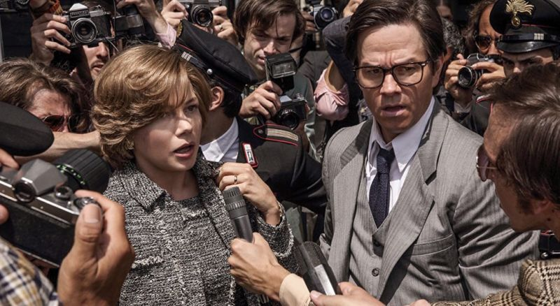 Michelle Williams and Mark Wahlberg in the still from 'All the Money in the World'.