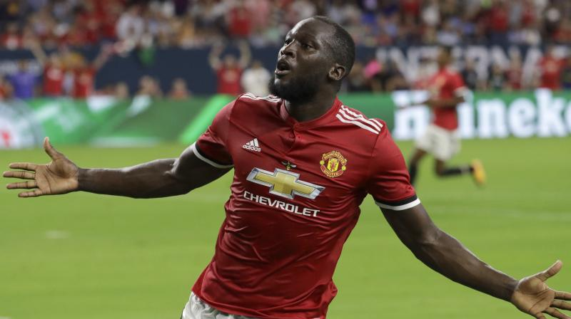 Belgian international Lukaku grabbed his second goal in his second start for United as the Red Devils eased past a disjointed City at Houston's NRG Stadium.(Photo: AP)