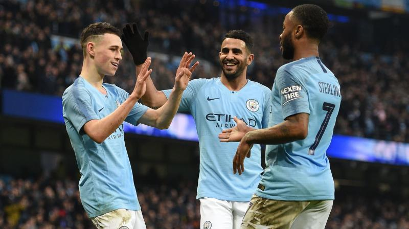 Mahrez claimed his first league goal since December, the Algeria winger driving his shot under Bournemouth 'keeper Artur Boruc. (Photo: AFP)