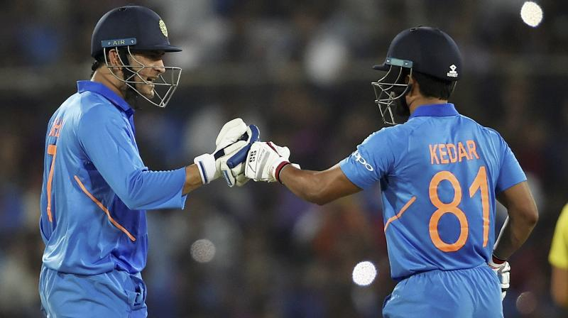 The Maharashtra player feels that Dhoni's game is more about playing straight and it creates pressure. (Photo: AP)