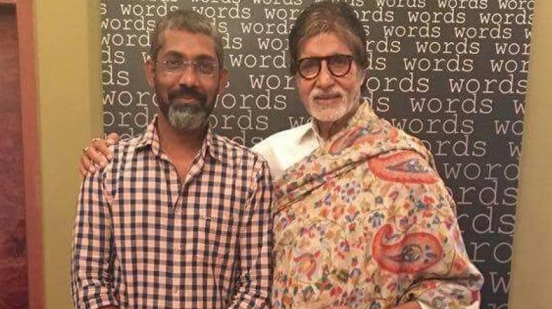 Amitabh Bachchan poses with Nagraj Manjule.