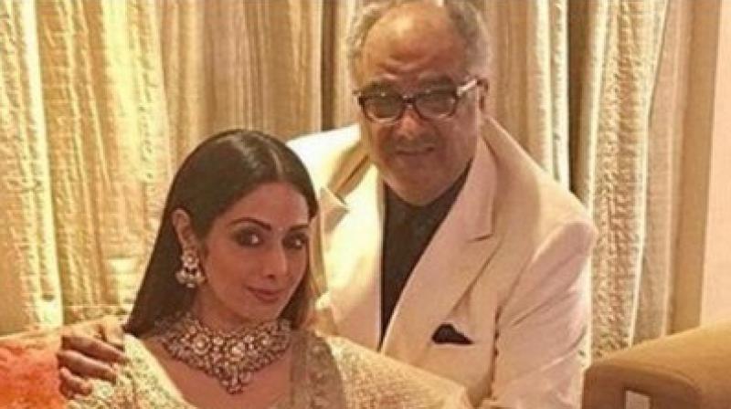 Boney Kapoor with late actress Sridevi.