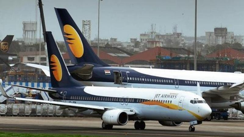 Jet has been forced to ground dozens more over unpaid dues. (Photo: ANI)