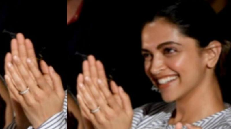 Deepika sports glittering new ring and fans feel Ranveer ...