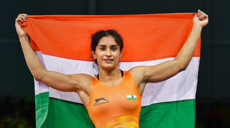 Vinesh Phogat became the first Indian wrestler to qualify for the Tokyo Olympics in the 53-kg category. (Photo: PTI)