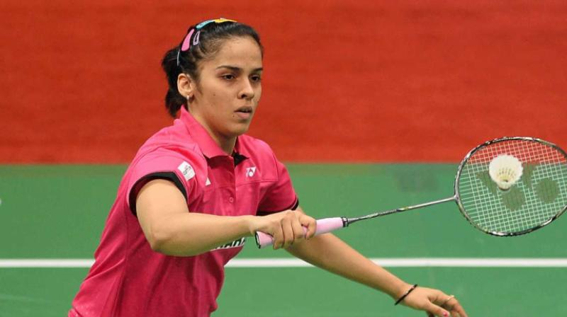 A gritty Saina Nehwal scripted a hard-fought straight-game win over former world champion Nozomi Okuhara of Japan to enter the women's singles semifinals of the USD 350,000 Malaysia Masters on Friday. (Photo: AFP)