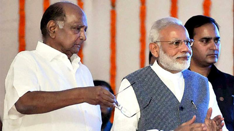 "Nationalist Congress Party chief Sharad Pawar has said Prime Minister Narendra Modi had proposed ""working together"", but he rejected the offer. (Photo: PTI)"