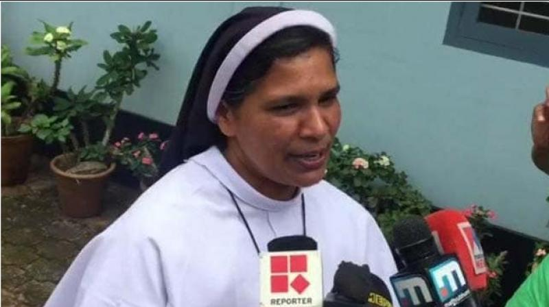 """A nun involved in protests against rape-accused Bishop Franco Mulakkal has written an autobiography highlighting stories of sexual abuse by priests and bishops, a fact which she says """"everybody knows but is silent about"""". (Photo: Twitter/ ANI)"""