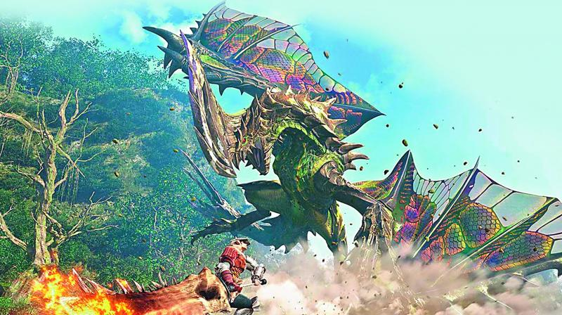 Monster Hunter:World as the name suggests is all about taking down giant beasts
