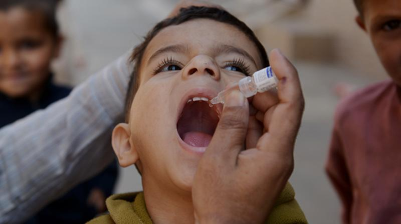 A novel patch that delivers polio vaccines may be more effective than oral doses or syringes, a study has found. (Photo: AFP)