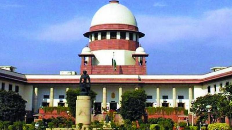 The appeal by the Supreme Court's secretary-general and the CPIO was heard by five-judge constitution bench comprising Chief Justice Ranjan Gogoi, Justice N.V. Ramana, Justice D.Y. Chandrachud, Justice Deepak Gupta and Justice Sanjiv Khanna. (Photo: DC)