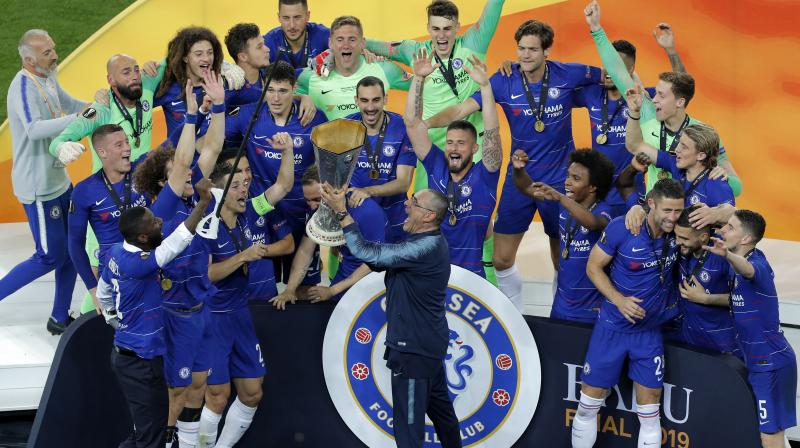 Sarri, 60, said he would speak to top officials at Chelsea - who have made a habit of hiring and firing managers in quick succession - in the coming days. (Photo:AFP)