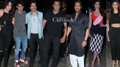 With a day to go for release,  the team of 'Race 3' held another screening of the film in Mumbai on Thursday. (Photos: Viral Bhayani)