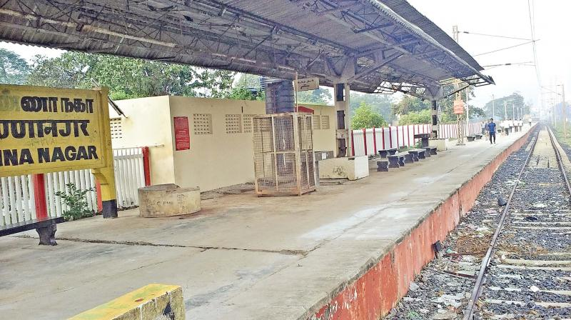 Anna Nagar railway station. (Photo: DC)