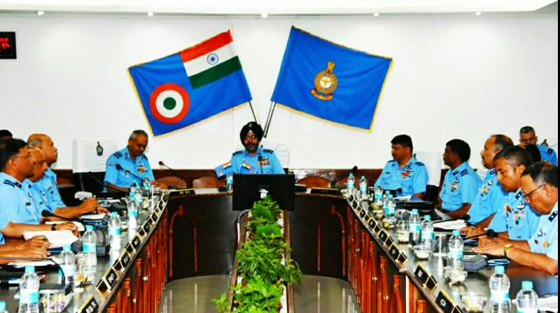 He discussed the prevailing security scenario and emphasised on the need for all air warriors to remain ever vigilant so that any attempt to degrade the operational efficiency of IAF could be easily thwarted, according to an EAC statement.  (Photo: DC)