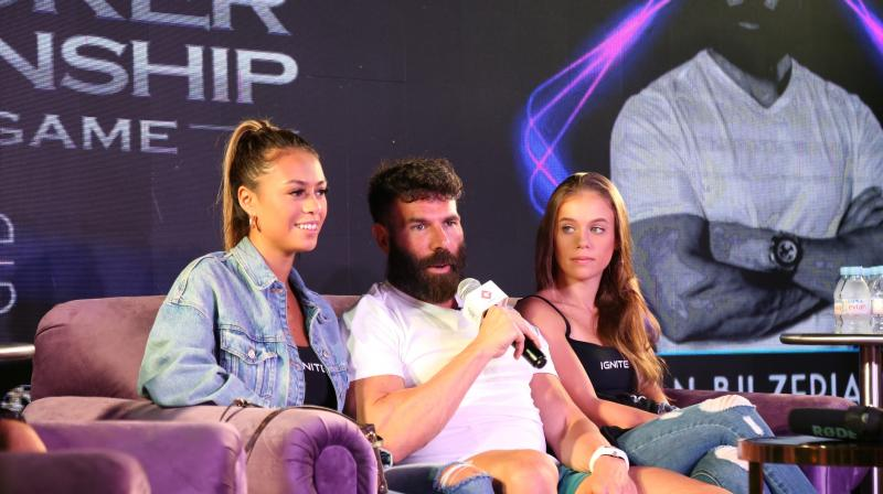 Instagram icon Dan Bilzerian who has over 28 million followers, known for his flashy lifestyle made his first visit to India at the event.