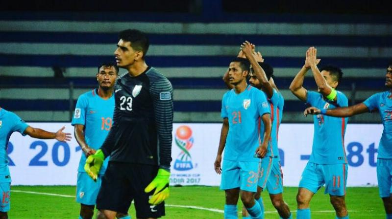 Gurpreet Singh Sandhu became the first Indian footballer to play in the UEFA Europa League. (Photo: Indian Football Team / Facebook)