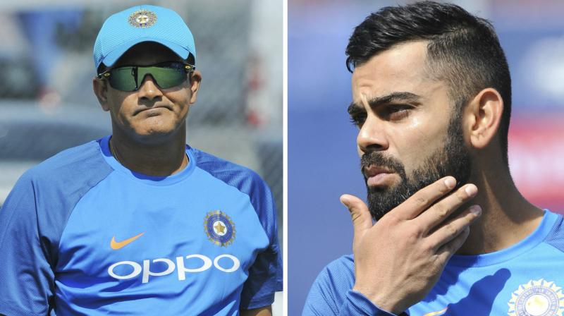 Anil Kumble had informed that skipper Virat Kohli had reservations about his work 'style' and his extension as the head coach, which prompted him to resign as Team India head coach. (Photo: AP)