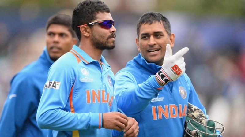 MS Dhoni was heard advising Ravindra Jadeja during the fourth West Indies versus India ODI. (Photo: BCCI)