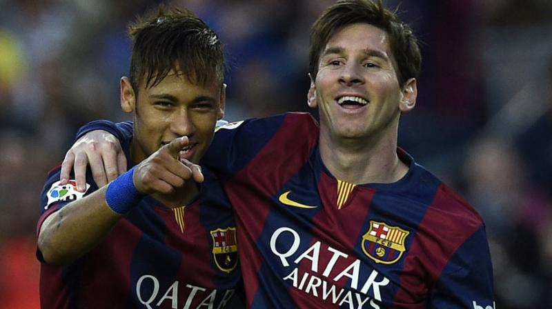 Neymar Jr and Lionel Messi. (Photo: AFP)