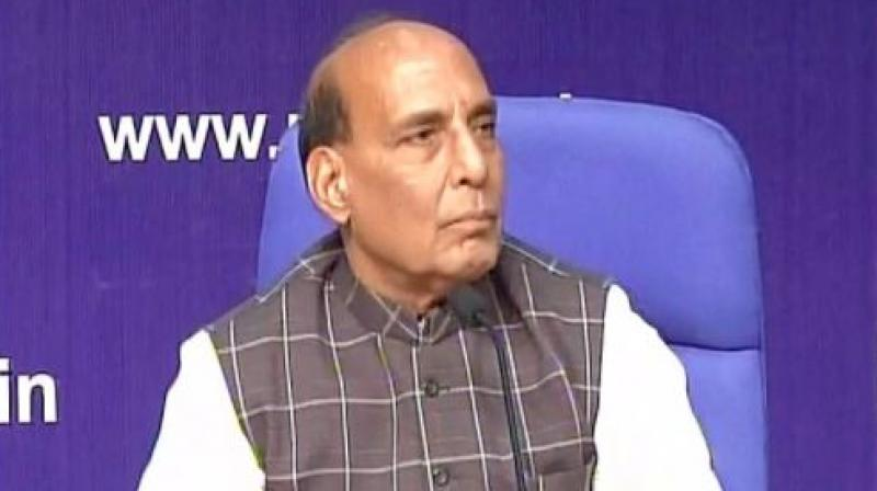 Rajnath Singh on Monday had hoped that a solution to the standoff in Doklam would be found soon. (Photo: ANI Twitter)