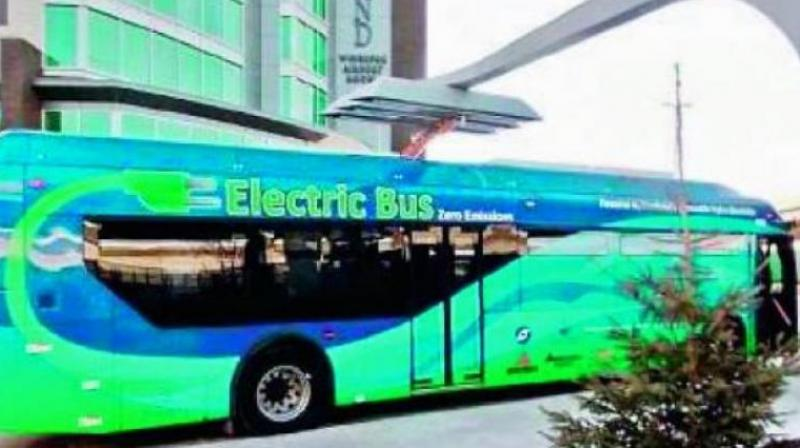 Meanwhile, 40 electric buses have officially been launched in the city on Tuesday by the transport commissioner Sunil Sharma at the Miyapur depot.