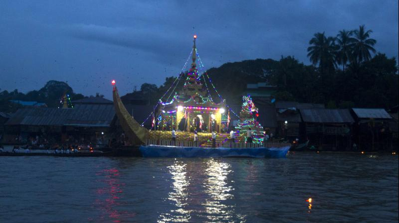 The Lighting Festival of Myanmar, is held on the full moon day of the Burmese Lunar month of Thadingyut. As a custom, it is held at the end of the Buddhist lent (Vassa) and is the second most popular festival in Myanmar after Thingyan Festival (New Year Water Festival). (Photo: AP)