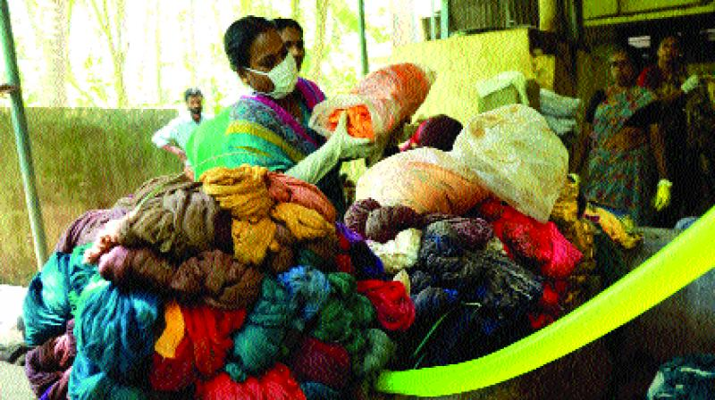 A stitch in time saves livelihood of hundreds of  weavers.