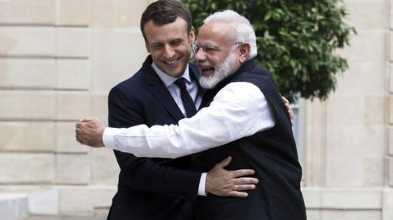 Narendra Modi had given Trudeau a cool reception, but he is expected to be much more welcoming for Macron after a warm meeting between the two in Paris 2017. (Photo: File)