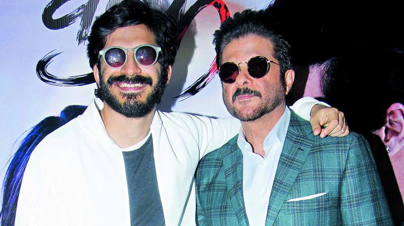 Harshvardhan Kapoor (L) and Anil Kapoor (R)