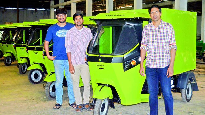 Rahul Gayam, Raja Gayam and Sri Harsha Bavirisetty are the founders of Gayam Motor Works