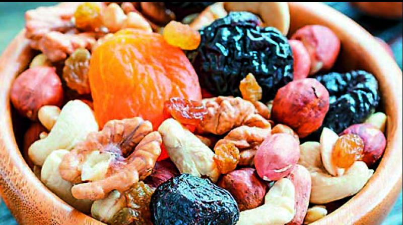 The order issues the inclusion of more healthy snacks in government offices, with a list including dried chana, khajoor (dates), badam (almonds) and akhrot (walnuts).