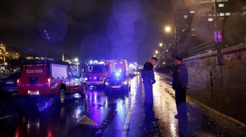 The Office stated that the sightseeing ship was carrying 32 South Korean passengers and two crew members when it sank in the Danube River in downtown Budapest on Wednesday. (Photo: ANI)