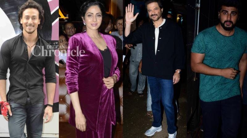Sridevi held a special screening of her recent film 'Mom' while the team of 'Mubarakan' visited the sets of a popular comedy show to promote the film. (Photo: Viral Bhayani)