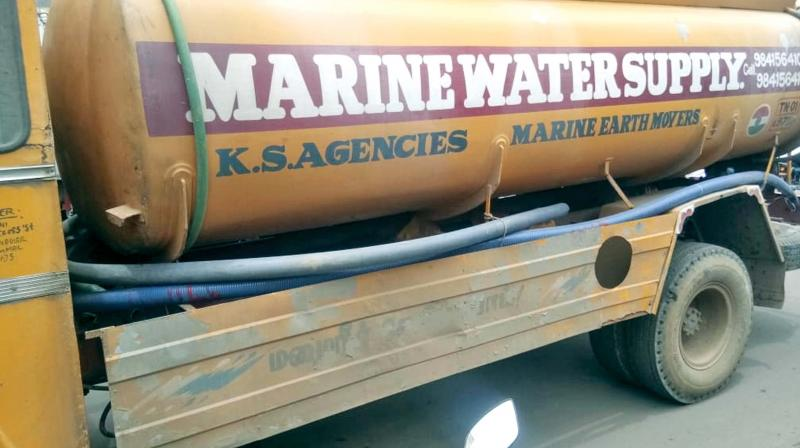 The water tanker responsible for the mishap. (Photo: DC)