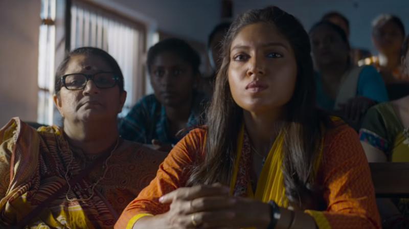 Bhumi Pednekar in the still from 'Bala'. (Photo: YouTube)
