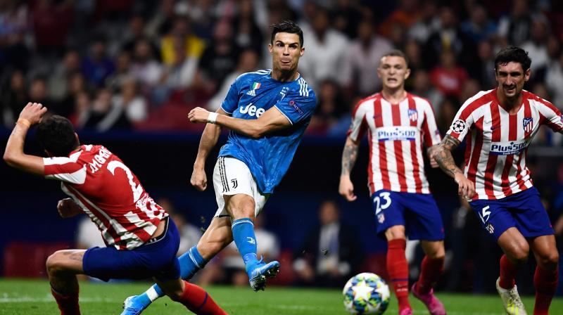 Juventus forward Cristiano Ronaldo had an unusually quiet game after scoring a hat-trick against Atletico in last year's competition, although he came within inches of grabbing a last-gasp winner when he sent a shot just past the far post. (Photo:AFP)