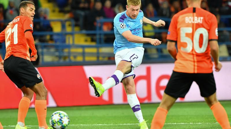 Manchester City manager Pep Guardiola is hopeful Kevin De Bruyne could be fit for Sunday's Premier League meeting with Wolves. (Photo:AFP)