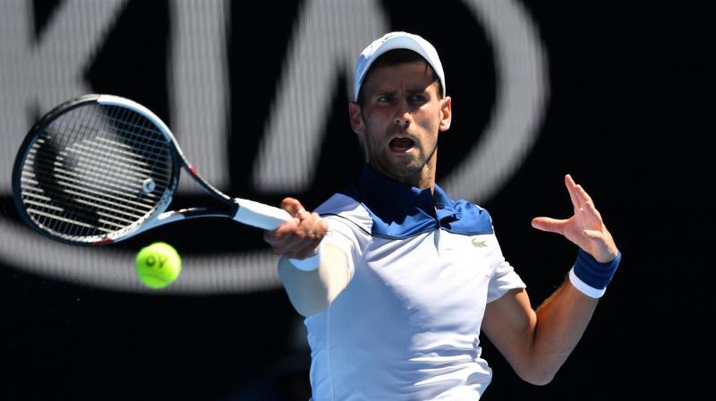 Australian Open 2018 Novak Djokovic Survives Melbourne Heat To Beat Gael Monfils