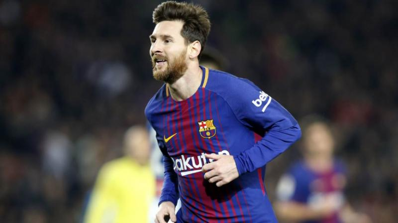 Lionel Messi scored in the 25th minute, his shot beating goalkeeper Pau Lopez with the help of a sizeable deflection off Brazilian defender Naldo.(Photo: Twitter / Barcelona)