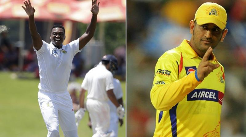 Lungi Ngidi bagged IPL contract with the Chennai Super Kings for a bargain price of 50 lakhs. (Photo: AP)